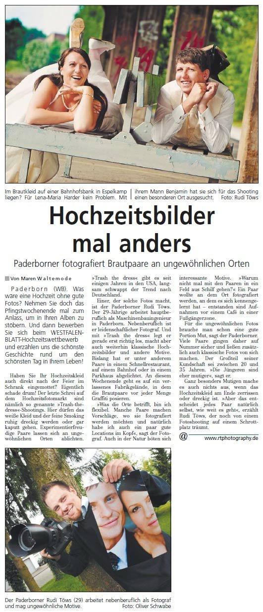 Zeitungsartikel Westfalenblatt 22.05.2010